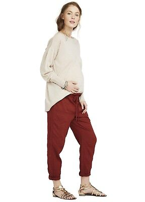 Hatch Collection Maternity The Paperbag Pant Rust Size 1