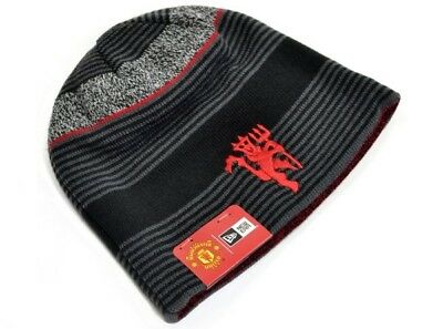 New Era Manchester United Football Club Official Reversible Knitted Beanie Hat