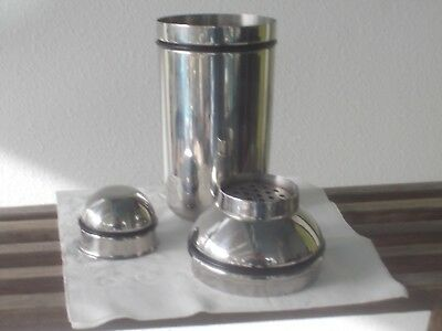 oneida 3 pc. stainless cocktail shaker 8 1/2""