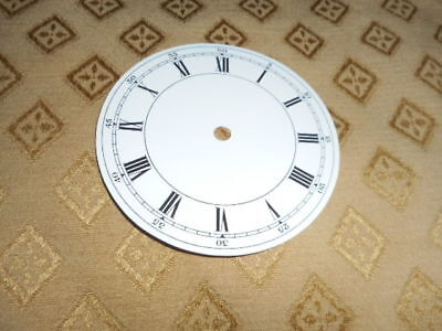 "Round Paper Clock Dial- 3 3/4"" M/T - Roman-High Gloss White - Face /Parts/Spares"