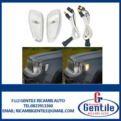 Kit Conversione Fanale Led Laterale Bianco Jeep Renegade Dal 2014 Dx+Sx