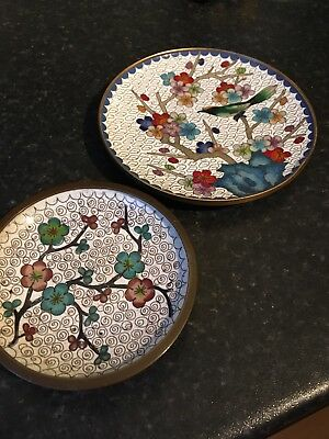 Pair Of chinese Painted Plates (metal)