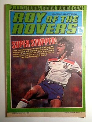 Roy Of The Rovers Comic 28th February 1981 Football Fleetway IPC Magazines