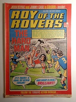 Roy Of The Rovers Comic 18th April 1981 Football Fleetway IPC Magazines