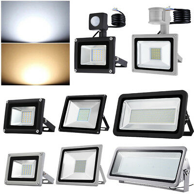 LED Floodlight PIR Sensor 10W 30W 50W 100W 200W 300W 500W 1000W Security Lights