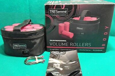 Tresemme 3039U Pro Compact Travel Rollers Hair Curlers x10 In Case Volume Boost