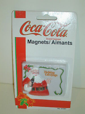 Coca Cola Christmas Santa Magnet Dated 1997 New In Package