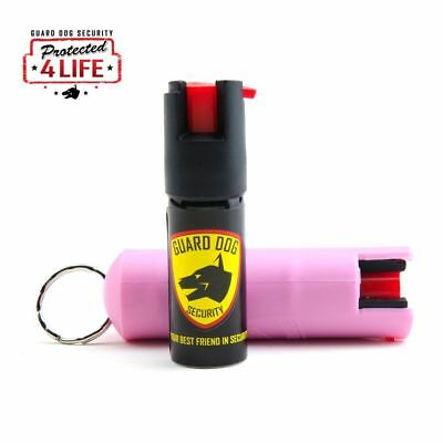 Guard Dog Security Pepper Spray. 1/2 Ounce 18% OC with Keychain Belt Clip (Pink)