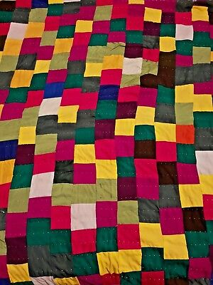 Traditional Bedspreads and Quilts Handmade 'Rilli' or 'Ralli' (Sindhi: رلّي)