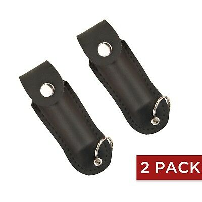 2 PACK Guard Dog Security Pepper Spray.1/2 Ounce Soft Case Keychain - Black
