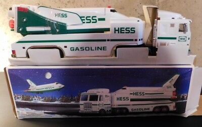 New In Box 1999 Hess Toy Truck And Space Ship With Satalite