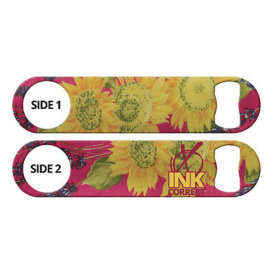 Sunflowers Cute Ink Correct Bottle Opener Flat Blade Church Key for Bartenders