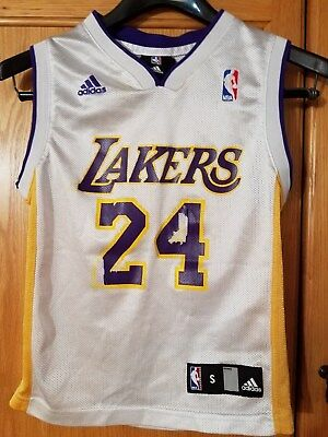 693a5b7cf97 KOBE BRYANT LOS ANGELES LAKERS  24 NBA ADIDAS AUTHENTIC JERSEY Youth S