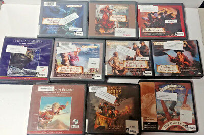 Young Adult PIRATE  Audio Books Lot of 10 on CD FREE SHIPPING Unabridged A-33
