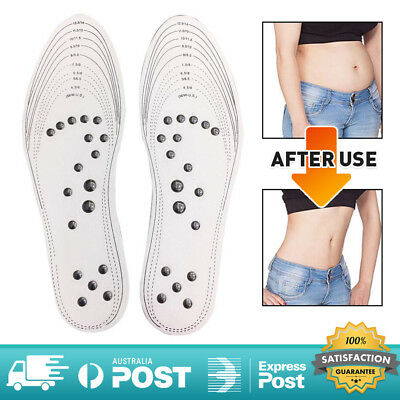 2018 MindInSole Acupressure Magnetic Massage Insoles Therapy Foot Pain Relief