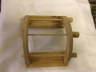 Compact Hand Crafted 3 Spool Lazy Kate In Solid Wood