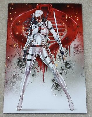 G.i. Joe 246 Jamie Tyndall Female Snake-Eyes White Stormshadow Virgin Variant Nm