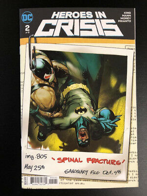 Heroes In Crisis #2 Ryan Sook Variant Cover B DC Comics 2018 NM