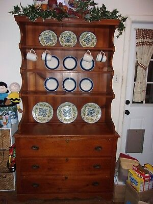 China Cabinet HUTCH-SOLID WOOD--Local Pick up