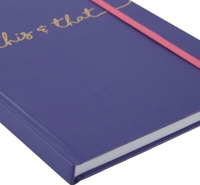 """Pen + Gear Case Journal Notebook """"This and That"""" Purple 192 Page Hard Cover"""