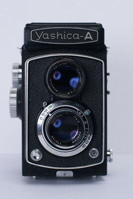 Yashica A Twin Lens Medium Format Camera old and beat up but still works.