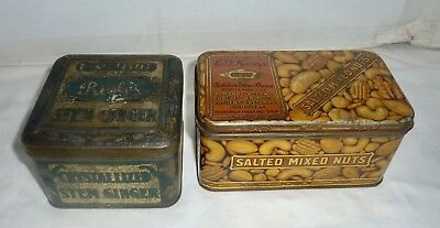 Rich's Crystallized Ginger & E.F.Kemp Mixed Nuts Tin