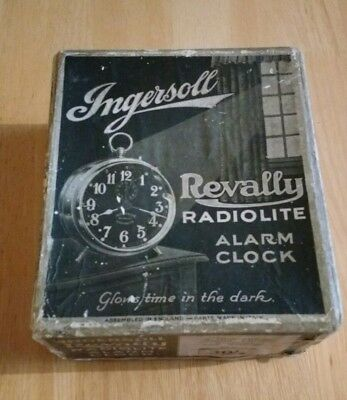 Vintage Ingersoll Radiolite REVALLY Alarm Clock : BOX ONLY