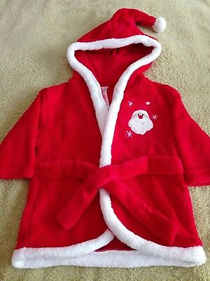 Baby Santa Hooded Bathrobe 3-6 months