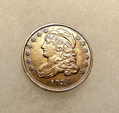 1834 Capped Bust Dime - Sharp Looking Coin - FREE SHIPPING