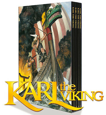 KARL THE VIKING 4 Vol H/C Set - Don Lawrence (Trigan Empire) - Lion Comic