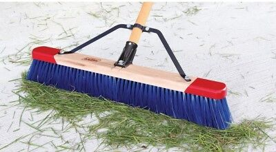 "New Harpers 7924P1 24"" Premium Red-End Outdoor Unassembled Push Broom in a Box"