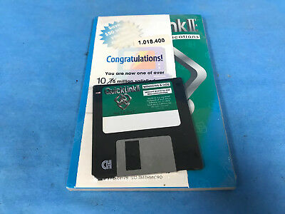 Vintage Smith Micro QuickLink II Fax Software Manual and Disk Windows DOS