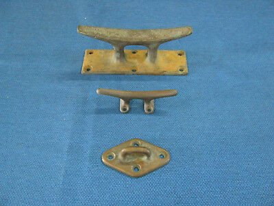 Bronze Boat Cleats And Pad Eye