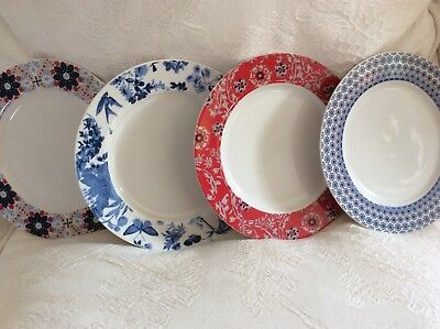 Set of Denby Monsoon salad/Side Plates X 4 . Beautiful Condition