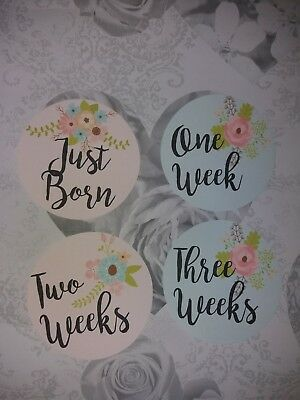 baby age milestone memorable moments cards girl hello world - 1 year photo prop
