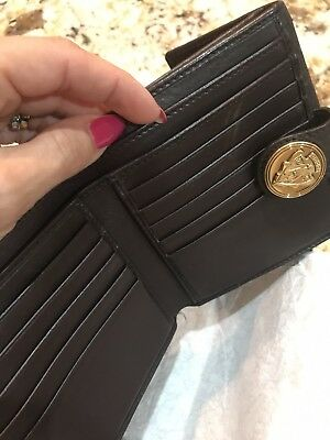 f9e7559990b8 AUTHENTIC GUCCI HORSEBIT leather brown wallet
