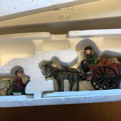 """Vintage Dept 56 Dickens Village """"Bringing Fleeces To The Mill"""" #58190 Christmas"""