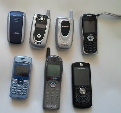 lot of seven cell phones untested
