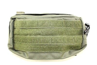 Paraclete Smoke Green Wide 9x3x5 General Purpose Utility Pouch w/ Loop Front