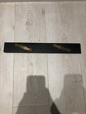 WW2 Maritime Parallel Rule - Ebony and Brass by Stanley