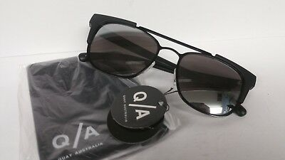 8fefa6a8ac Quay Australia Sunglasses HIGH AND DRY black silver Women s NWT Incl. Soft  Case