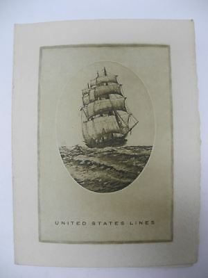 SS UNITED STATES LINES May 1937 Dinner Menu Trip to London for Coronation