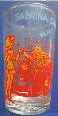 Vintage Jelly Glass Sabrina Calls The Play With Jughead On Bottom Of Glass