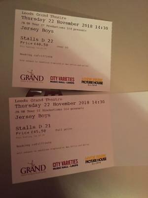 Jersey Boys Leeds Grand Theatre 22nd November FANTASTIC SEATS