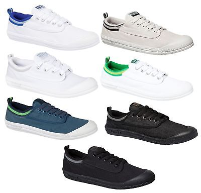 Mens Dunlop Volley International Canvas Casual Volleys White Blue Black Shoes