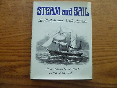 Steam & Sail-Book on Naval & Merchant Ships-British & American-1973 1st. Edition