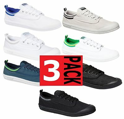 3 x MENS DUNLOP VOLLEYS INTERNATIONAL CANVAS VOLLEY WHITE BLUE BLACK GREEN SHOES