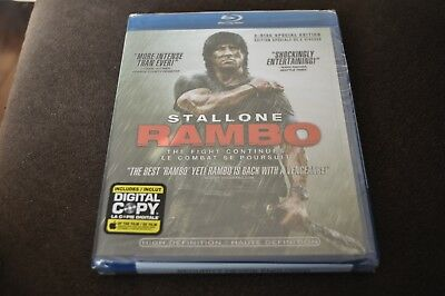 Rambo (Blu-ray Disc, 2008, 2-Disc Set, Canadian Includes Digital Copy French Ver