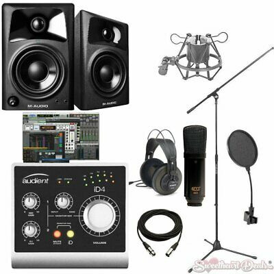Audient iD4 Studio Recording Bundle with M-Audio AV32 Monitors & Pro Tools First