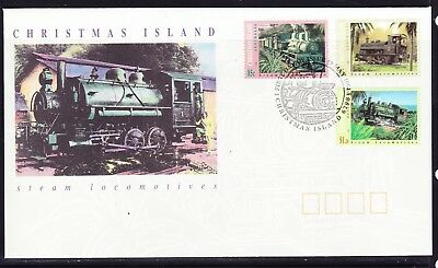 Christmas Island 1994 Locomotives  First Day Cover  APM26540